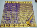 Kanchi Pure Silk Economy Wedding Sarees Flower and Mango Design Berry Blue Color
